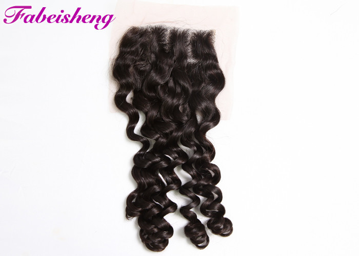 Brazilian Curly Weave 4x4 Lace Closure 8 - 30 Inch Hair Extensions
